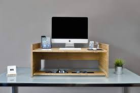 Stand Up Desk Kickstarter This Gorgeous And Elegant Bamboo Gadget Will Turn Any Desk Into A