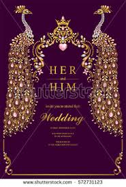 indian wedding invitation cards indian wedding invitation card templates gold stock vector