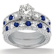 antique rings sapphire images Sapphire engagement rings vintage antique diamond and blue jpg