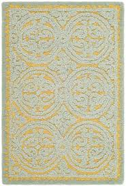 What Is A Tufted Rug Safavieh Cambridge Hand Tufted Blue Gold Area Rug U0026 Reviews Wayfair