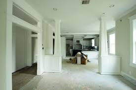 marie flanigan interiors i love how the accent columns effectively separate the living room and dining room while still allowing for such an open look and feel
