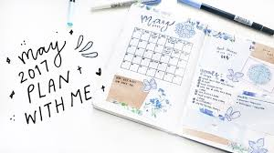 plan with me bullet journal set up may u002717 youtube