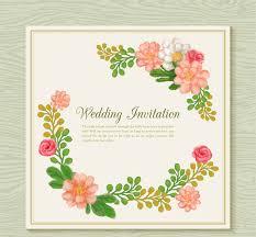 marriage invitation card design watercolor flower wedding invitation card design vector epin
