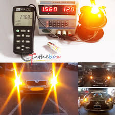 lexus yellow warning light 2x amber no resistor required 7440 3535 led front rear turn signal
