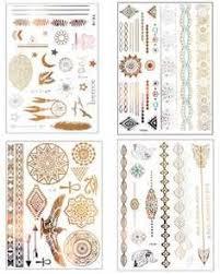 mandala tattoo zum aufkleben premium metallic henna tattoos 75 mandala boho designs in gold and