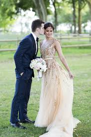 golden wedding dresses modern gatsby inspired wedding sparkly gold dress