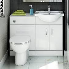 Bathroom Vanity Unit With Basin And Toilet Quartz 1048 Mm White Gloss Vanity Unit Toilet Bathroom