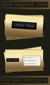 Best Business Card Designs Psd Latest Gold Style Business Card Template Psd Business Card