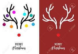 simple modern cards with nose reindeer rudolph