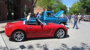 saturn sky red old town car show fort collins