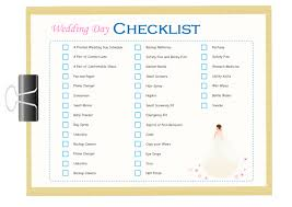 wedding day planner wedding day checklist free wedding day checklist templates