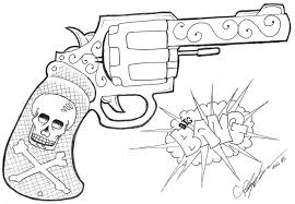 gun and skull designs danger skull gun design gun