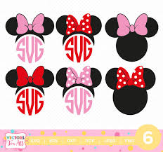 minnie mouse monogram minnie mouse ears monogram svg minnie svgs monogram font svg