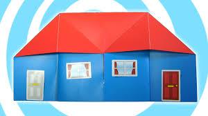 easy origami house tutorial youtube