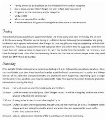 wedding itinerary template for guests fantastic wedding weekend itinerary template pictures inspiration