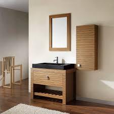 zebra wood bathroom cabinets knox vanity set black granite wood veneer and vessel sink