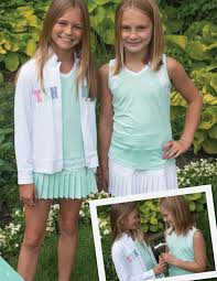 tennis dresses little miss tennis peppermint and white