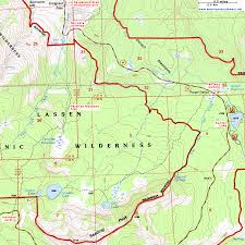 Topographical Map Of New Mexico by Topographic Map Of The Trail To Cliff Lake Lassen Volcanic