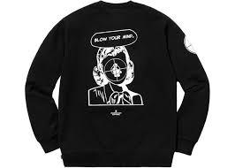 space jam sweater supreme undercover enemy crewneck sweatshirt black