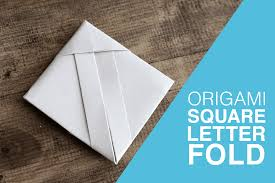 origami square letterfold tutorial