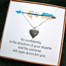 college graduation gifts high school college graduation gifts compass necklace message card