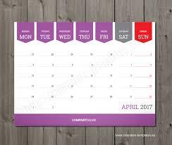 printable monthly desk calendar