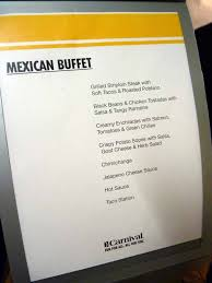 carnival cruise line menus food pictures