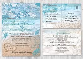beach wedding invitations starfish wedding invitation beach