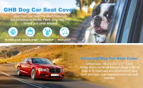 How To Remove Dog Hair From Car Upholstery Ghb Dog Car Seat Cover Waterproof With Dog Seat Belt For Car
