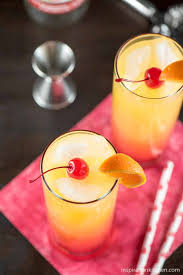 Cherry Cocktail Party Effect - desert sunrise cocktail inspiration kitchen