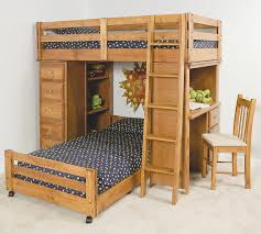 trendwood visions twin twin lofted bunk bed with desk and chest