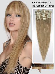 clip hair 24 inch clip in hair extension 135g uss1224