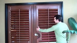 wood shutters on french doors mr b u0027s shutters u0026 blinds 805 654