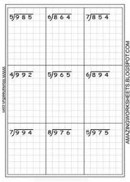 long division worksheets free using graph paper keeps the