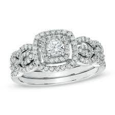 Zales Wedding Rings by 2 Choice Zales Previously Owned 934 50 5 8 Carat Tw Diamond