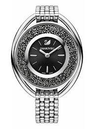 swarovski crystal bracelet watches images Swarovski 5181664 crystalline oval black bracelet watch ebay jpg
