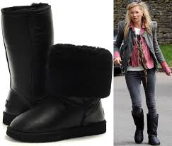 ugg s boots black kate moss boots black leather uggs stylefrizz photo gallery
