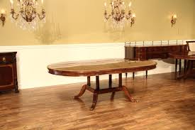 54 round to oval mahogany dining table