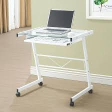 Glass And Chrome Desk Glass Computer Desks Uk Glass And Metal Computer Desk With Drawers