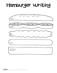 hamburger clipart main idea pencil and in color hamburger