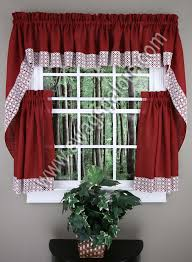 Country Kitchen Curtains Ideas Attractive Red Kitchen Curtains And Valances And Salem Kitchen