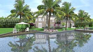 tropical landscape design for new waterfront home in jupiter fl
