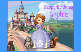 sofia the first edible cake topper decoration party birthday