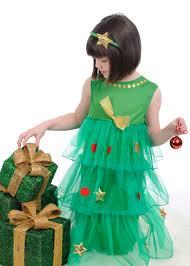 girls green christmas tree dress costume kids christmas tree tutu