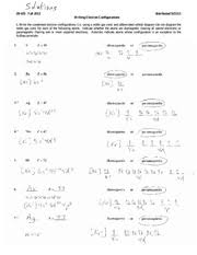solutions electron configurations worksheet 5 hf z u003d 72