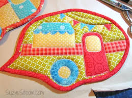 free patterns quilted potholders happy cer quilted pot holders