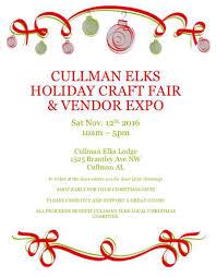 cullman elks holiday craft fair u0026 vendor expo cullman today