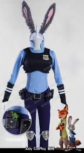 Rabbit Halloween Costume Aliexpress Buy Zootopia Judi Rabbit Judy Bunny Police
