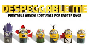 despeggable diy minion costumes easter eggs printables