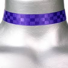 purple satin ribbon 16mm 5 8 purple checkerboard satin ribbon choker necklace